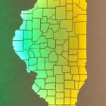 Illinois and its Counties 18x24 $220