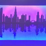 Chicago Skyline 16x24 $200